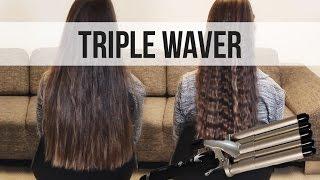 Плойка для волос 5 Волн Gemei GM 2933  Щипцы для завивки и объема +Подарок! от компании Телемагазин - видео