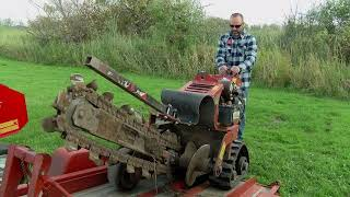 Ditch Witch - -Digging a trench at home