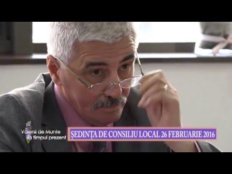 Emisiunea Vălenii de Munte la timpul prezent – 4 martie 2016 – Ședința Consiliului Local