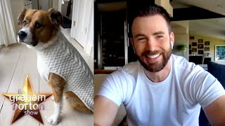 Chris Evans & His Dog Look Incredible In Cable Knit Sweaters   The Graham Norton Show