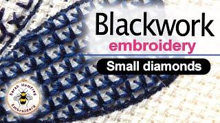 Blackwork Embroidery  - Blackwork Small Diamonds