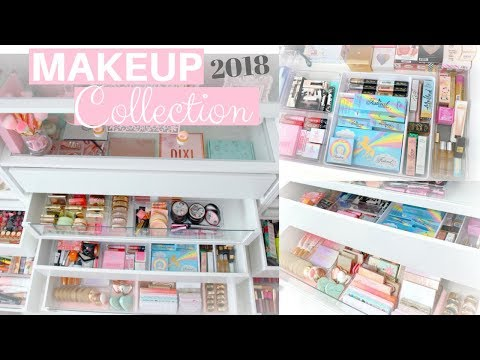 MAKEUP COLLECTION AND STORAGE 2018!🌟💕-SLMissGlam