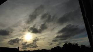 Zeitraffa 08.07.17 Sonnen Entfernung oder Sonnenuntergang / Luftströmung unterhalb / oberhalb