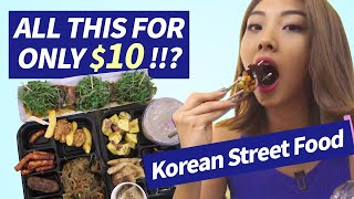 $10 korean street foods in Seoul, Tongin Market !
