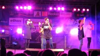 Justice Crew live at Calamvale Carnival 25/7/15 - I Love My Life (Michael Jackson intro)
