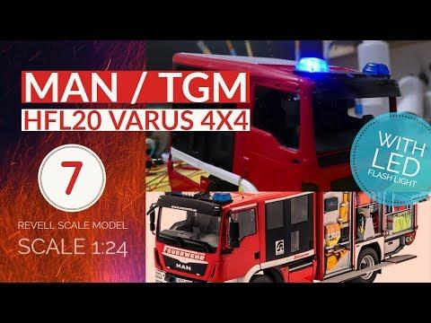 Revell HLF VARUS 4x4 MAN/Schlingmann - FEUERWEHR EP.7 mit LED Blaulicht [QHD 1440p]