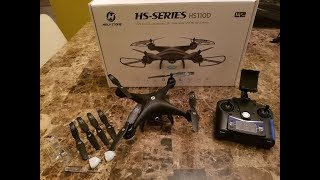 Holy Stone 110D review, opening, flying and FPV.