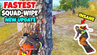FASTEST Squad-Wipe in New Snow Update and Skateboard Attack in PUBG Mobile • EPIC Snow Map Gameplay