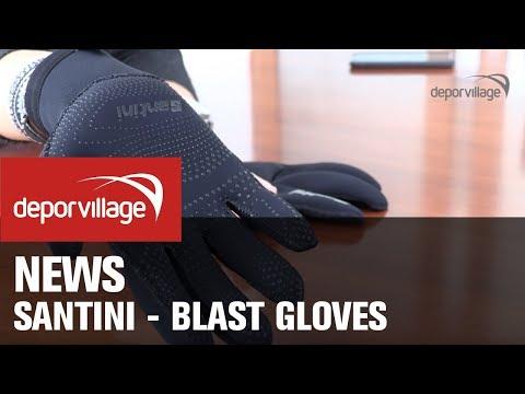 Guanti Santini Blast Neoprene Gloves nero