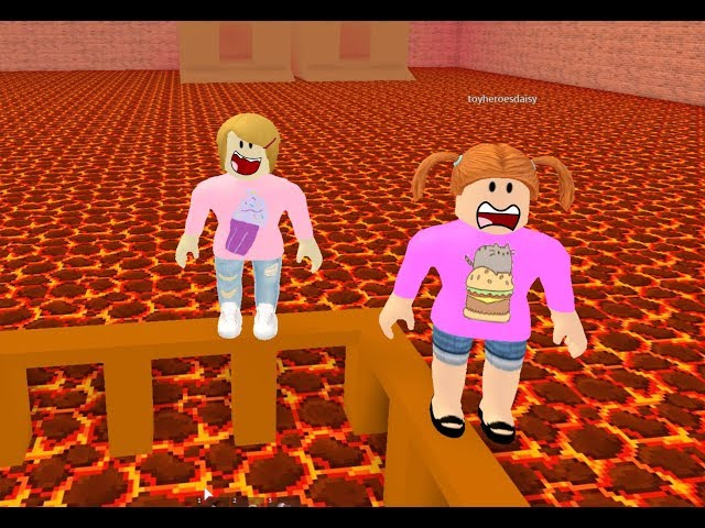 Roblox The Floor Is Lava With Molly And Daisy!