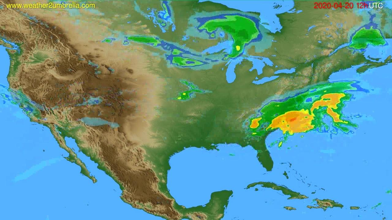Radar forecast USA & Canada // modelrun: 00h UTC 2020-04-20