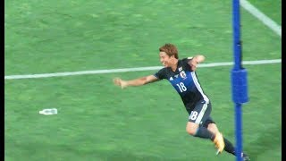 サッカー日本代表・浅野拓磨選手がロシアW杯を決める先制ゴールアジア最終予選対オーストラリア