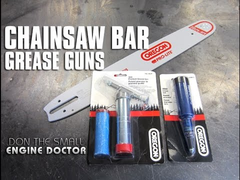 You Need This Tool For Chainsaw Bar Maintenance! Tool Review Of Oregon Grease Guns