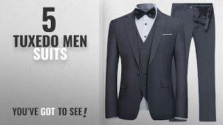 Top 10 Tuxedo Men Suits [Winter 2018 ]: YFFUSHI Mens Slim Fit 3 Piece Suit One Button Blazer Tux
