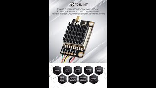 Eachine TX805S 5.8GHz 40CH 25/500/1000/1600mW AV FPV Transmitter VTX LED Display With Mic Heatsink S