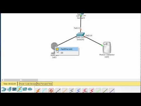IoT in Packet Tracer 7 - Registration Server, Motion Capture, Webcam