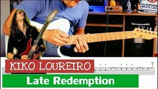 LATE REDEMPTION Solo Vídeo Aula + TAB ( Solo Kiko Loureiro ) ANGRA Late Redemption