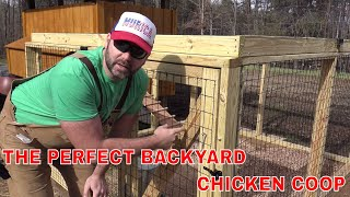 Build The Perfect Back Yard Chicken Coop..fun Project Idea!! Easy To Clean!!