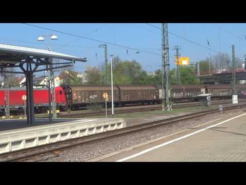 BR186 mit Gueterzug in Homburg (Saar) HBF