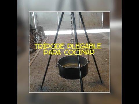 DIY Como hacer Tripode plegable para cocinar