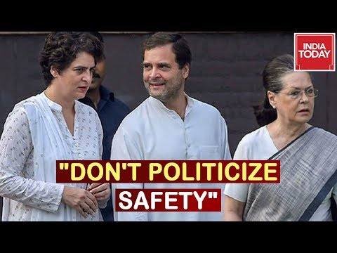 """""""Don't Politicize Safety"""" Congress Slams Govt Over SPG Cover Removal For Gandhi Family"""