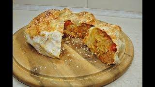 Капустный пирог из лаваша -  постное блюдо. ПП