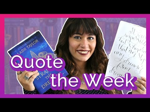 Quote of the Week: Strange The Dreamer - Laini Taylor | All About That Book |