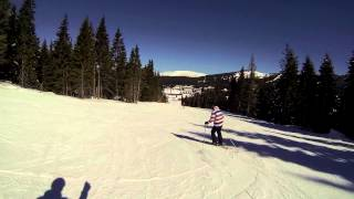 Petar Lazic skiing on Kopaonik / Krst