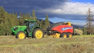 Krone Big Pack 1290 Baling in the Field   Messicks