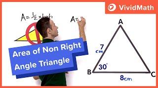 Area Of A Non-Right Angle Triangle
