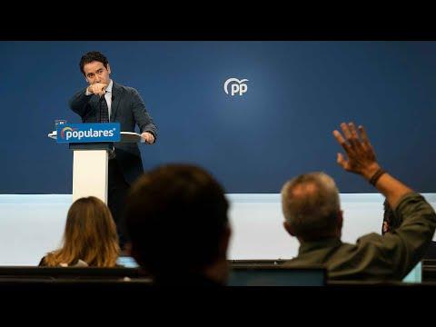 Rueda de prensa de Teodoro García Egea tras el Comité de Dirección