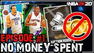 NO MONEY SPENT SERIES #1 - UNLOCKING THE AH AND ALREADY GOT A SNIPE! NBA 2k20 MyTEAM