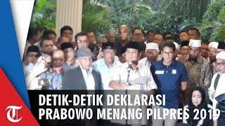 Detik-detik Prabowo Deklarasikan Kemenangan Pilpres 2019 yang Kedua