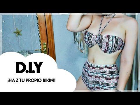 D.I.Y: ¡Haz tu propio bikini! (Recicla leggins que ya no utilizas) | Sandra Eme