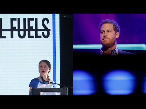 Prince Harry has jumped on Greta's 'caravan of climate hype' to steal her 'glory'
