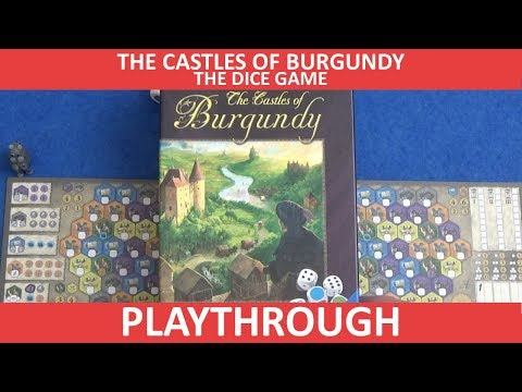 The Castles of Burgundy: The Dice Game - Playthrough - slickerdrips