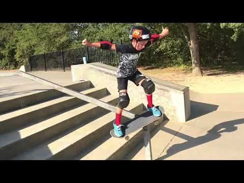 10 year old battles 5 stair and handrail