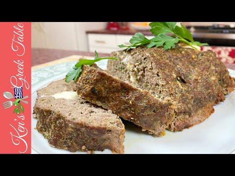 Greek-Style Stuffed Meatloaf   No Breadcrumb Meatloaf Recipe
