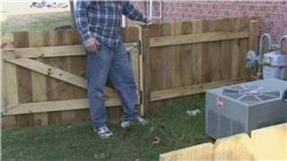 Home Improvement Projects : How To Install Wood Fences