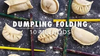 10 ways to fold dumplings