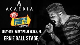 Countdown to Vans Warped Tour: Acaedia Interview