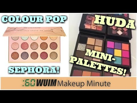 Colour Pop Golden State of Mind at Sephora! Huda Obsession Mini Palettes Coming! | Makeup Minute