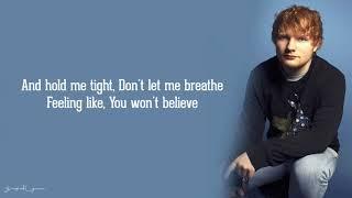 Ed Sheeran - Firefly (Lyrics)