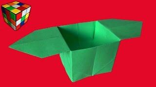 Как сделать КОРОБОЧКУ из бумаги. Коробочка оригами своими руками. Поделки из бумаги.