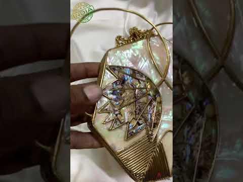 Designer MOP Brass Clutches