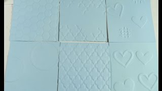 ❤(D.I.Y) Cheap Way To Make Embossing  Impression Texture❤