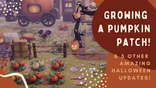 Growing my PUMPKIN PATCH & 5 amazing HALLOWEEN Updates: Animal Crossing New Horizons