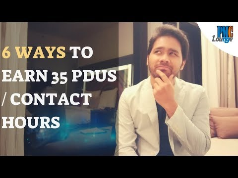 6 Ways to Earn 35 PDUs or Contact Hours for PMP Exam - YouTube