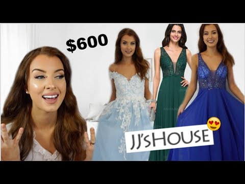 TRYING ON JJsHOUSE PROM DRESSES... are they worth it??