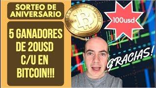 SORTEO DE ANIVERSARIO 100 USD (5 ganadores!!)